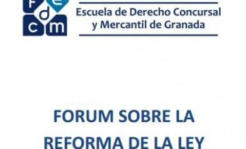 Forum sobre la Reforma de la Ley Concursal