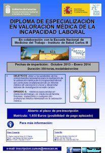 Diploma de Valoración Médica de la Incapacidad Laboral
