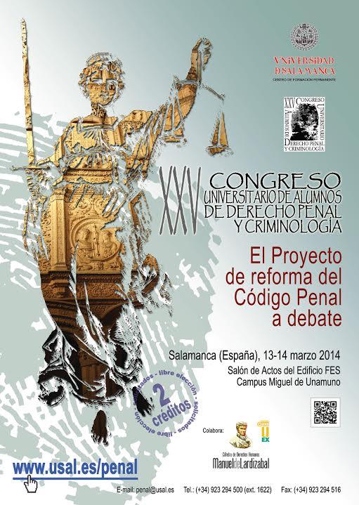 XXV Derecho Penal y Criminología Universidad de Salamanca