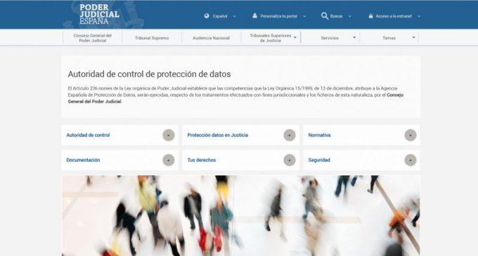 El CGPJ lanza un portal web como autoridad de control en materia de protección de datos
